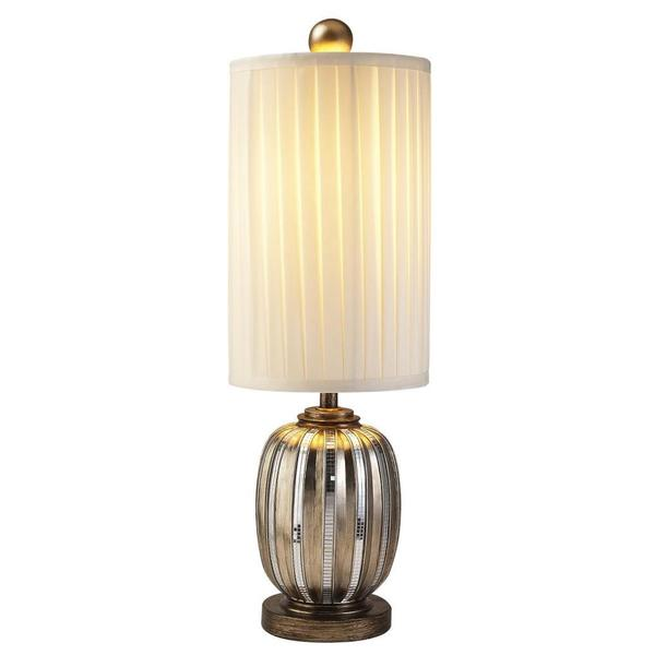 Silver Metallic Tiles Table Lamp