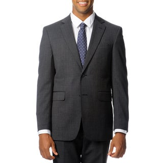 Nautica Men's Charcoal Plaid Wool Performance Blend Suit