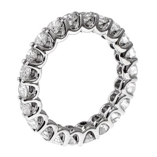 14k/ 18k Gold or Platinum 2ct TDW Round-cut Diamond Eternity Band (F-G, SI1-SI2)