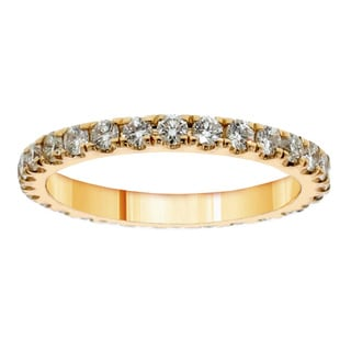 14k/ 18k Yellow Gold 1 1/3ct TDW Diamond Eternity Band (F-G, SI1-SI2)