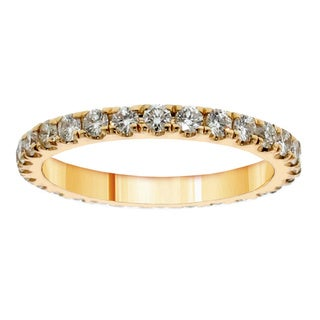 14k/ 18k Yellow Gold 1 1/5ct TDW Diamond Eternity Band (G-H, SI1-SI2)