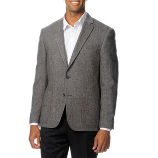 Nautica Men's Black/ White Herringbone Wool Blend 'Gear' Sport Coat