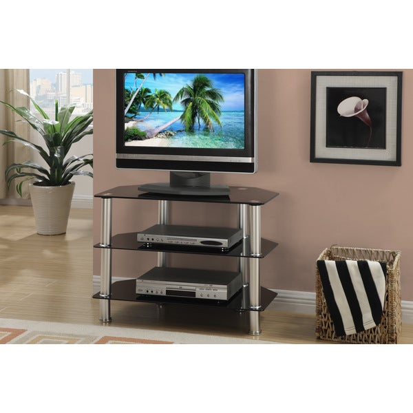 Black 32-inch Plasma TV LCD Stand/ Media Console