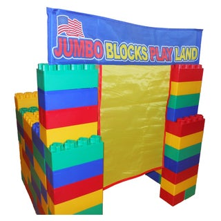 Kids Adventure Jumbo Blocks Playland 99-Piece Play House