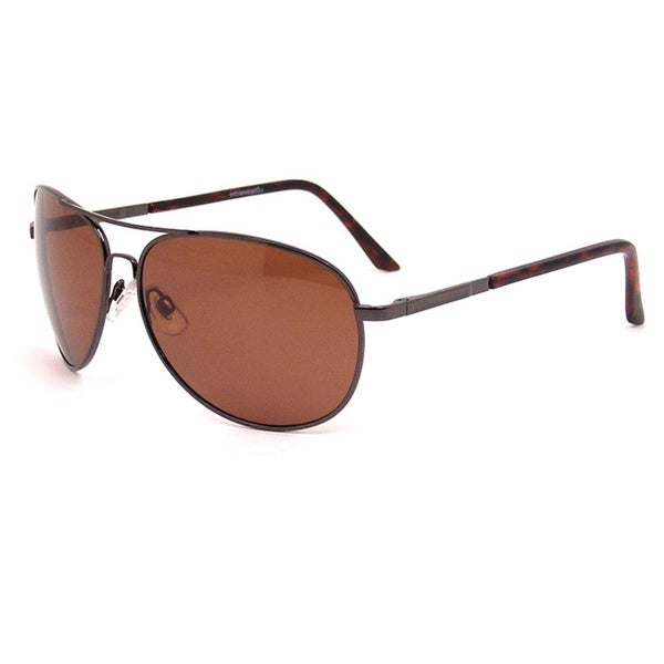 Extreme Optiks Men's 'Stillman' Shiny Dark Brown Polarized Sunglasses
