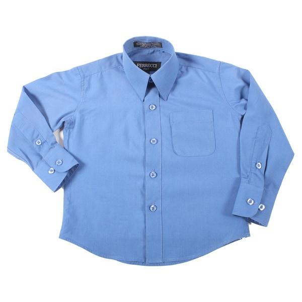 Ferrecci Boys Royal Blue Collared Dress Shirt
