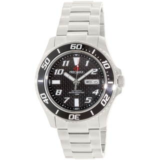 Precimax Men's Aqua Classic Automatic PX13221 Silver Stainless-Steel Black Dial Automatic Watch