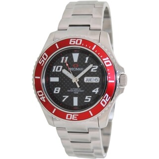 Precimax Men's Aqua Classic Automatic PX13220 Silver Stainless-Steel Black Dial Automatic Watch
