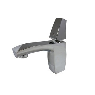 Flotera Chrome Finish Stainless Steel Single Knob Bathroom Sink Faucet