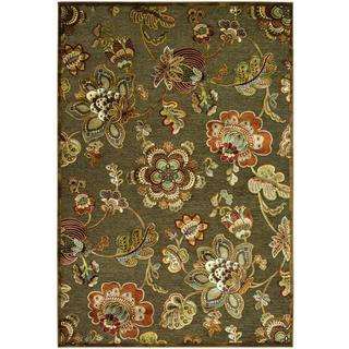 Cire Retro Poppy/ Quartz Power-loomed Area Rug (5'3 x 7'6)