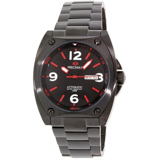 Precimax Men's Fortis Automatic PX13212 Black Stainless-Steel Black Dial Automatic Watch