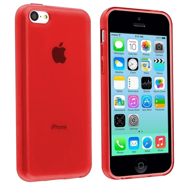 BasAcc Red TPU Rubber Case for Apple® iPhone 5C