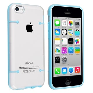 BasAcc Clear with Blue Trim Slim Case for Apple� iPhone 5C