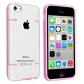 BasAcc Clear with Light Pink Trim Slim Case for Apple� iPhone 5C