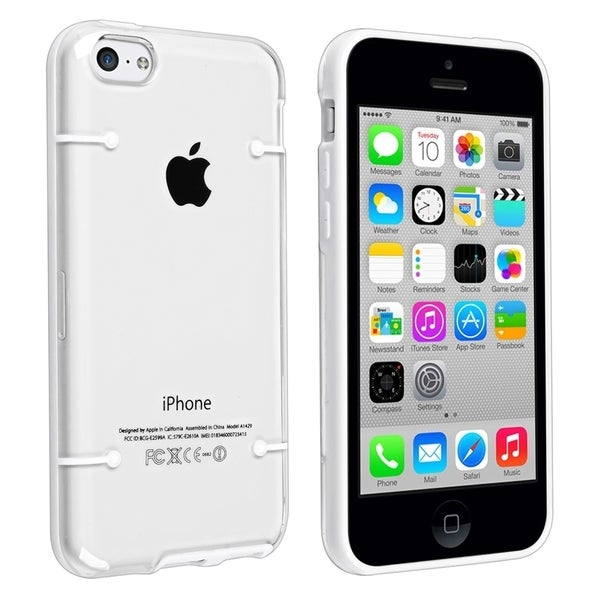 BasAcc Clear with White Trim Slim Case for Apple® iPhone 5C