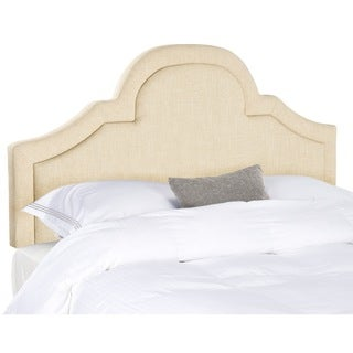 Kerstin Hemp Linen Fabric Arched Headboard (Queen)