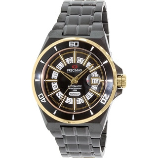 Precimax Men's Stark Automatic PX13215 Black Stainless-Steel Black Dial Automatic Watch