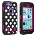 BasAcc Hot Pink Hard/ Dot Skin Hybrid Case for Apple iPhone 5C