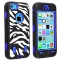 BasAcc Light Blue Hard/ Zebra Skin Hybrid Case for Apple� iPhone 5C