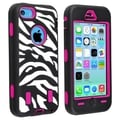 BasAcc Hot Pink Hard/ Zebra Skin Hybrid Case for Apple� iPhone 5C