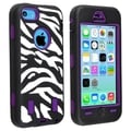 BasAcc Purple Hard/ Zebra Skin Hybrid Case for Apple� iPhone 5C