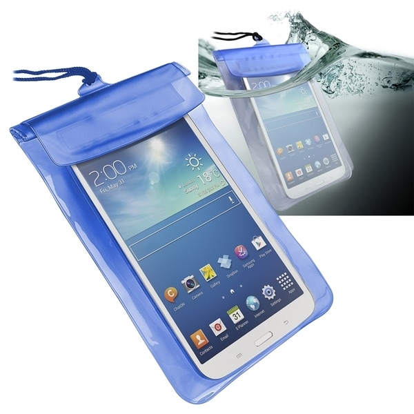 INSTEN Blue Universal Tablet Waterproof Bag Phone Case Cover