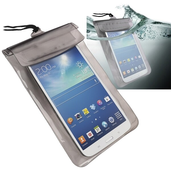 INSTEN Black Universal Tablet Waterproof Bag Phone Case Cover