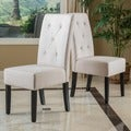 Christopher Knight Home Taylor Natural Fabric Dining Chair (Set of 2)