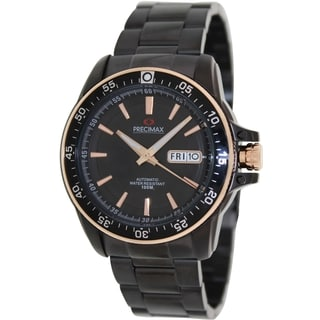 Precimax Men's Propel Automatic PX13197 Black Stainless-Steel Black Dial Automatic Watch