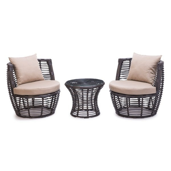 Brown Stanley Stacking Patio Set (Set of 3)