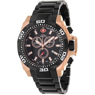 Swiss Precimax Men's Quantum Pro SP13186 Two-Tone Stainless-Steel Black Dial Swiss Chronograph Watch