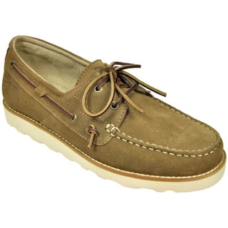 Rugged Shark Men's 'Wheelhouse' Tan Suede Boat Shoes