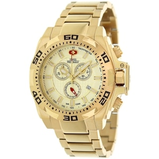 Swiss Precimax Men's Quantum Pro SP13184 Gold Stainless-Steel Gold Dial Swiss Chronograph Watch