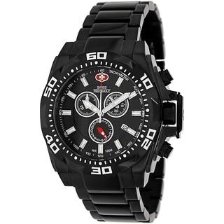 Swiss Precimax Men's Quantum Pro SP13180 Black Stainless-Steel Black Dial Swiss Chronograph Watch