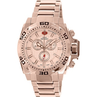 Swiss Precimax Men's Quantum Pro SP13185 Rose-Gold Stainless-Steel Swiss Chronograph Watch