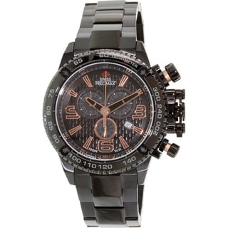 Swiss Precimax Men's Forge Pro SP13245 Black Stainless-Steel Black Dial Swiss Chronograph Watch