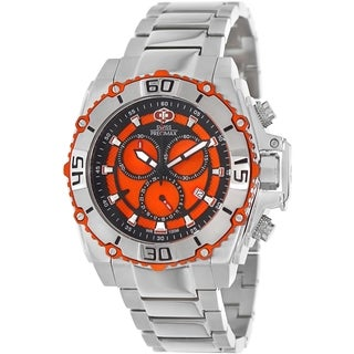 Swiss Precimax Men's Tactical Pro SP13176 Silver Stainless-Steel Orange Dial Swiss Chronograph Watch