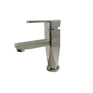 Stainless Steel Chrome Straight Spout Bathroom Sink Faucet