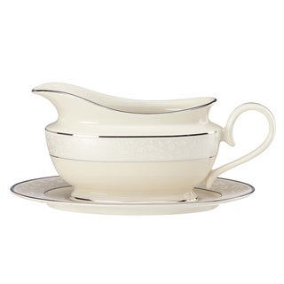 Lenox Pearl Innocence Sauce Boat and Stand