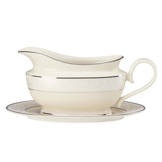 Lenox Opal Innocence Sauce Boat and Stand
