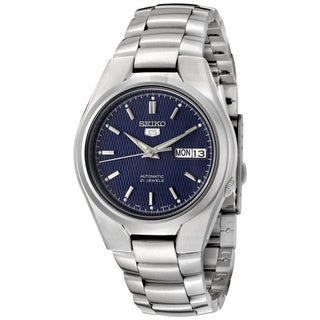 Seiko Men's 5 Automatic SNK603K Silver Stainless-Steel Automatic Watch with Blue Dial