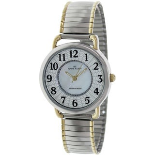 Anne Klein Women's 10-9111MPTT Two-Tone Metal Quartz Watch with Mother-Of-Pearl Dial