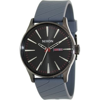 Nixon Men's Sentry A027131-00 Grey Resin Quartz Watch with Black Dial