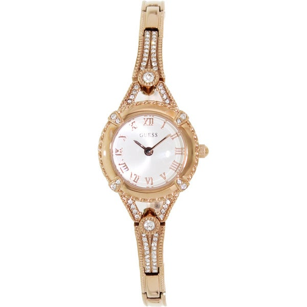 Guess Women's U0135L3 Rose-Gold Stainless-Steel Quartz Watch with Silver Dial