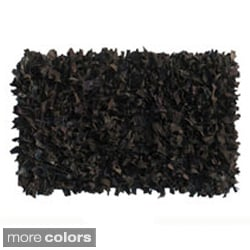 Leather Allover Shag Rug (2' x 3')