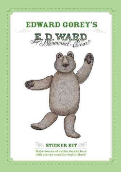 A Mercurial Bear: Edward Gorey Sticker Kit (Paperback)