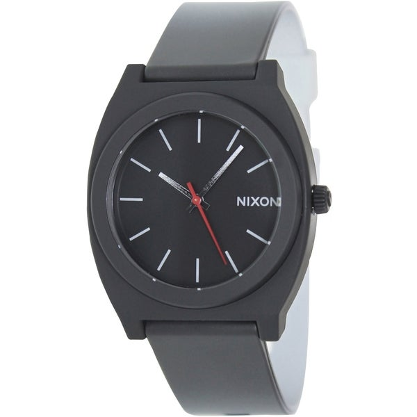 Nixon Men's Time Teller P A1191390 Two-Tone Polyurethane Quartz Watch with Black Dial