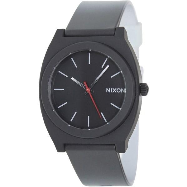 Nixon Men's Time Teller P A1191390 Two-Tone Polyurethane Quartz Watch with Black Dial