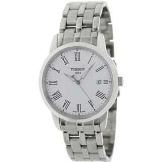 Tissot Men's Dream T033.410.11.013.10 Silver Stainless-Steel Swiss Quartz Watch with White Dial