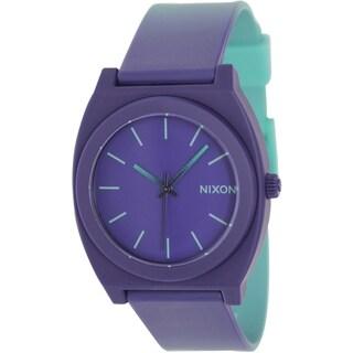Nixon Women's Time Teller P A1191379 Two-Tone Polyurethane Quartz Watch with Purple Dial